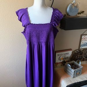 Just My Size Woman's Plus Purple Sundress 3X